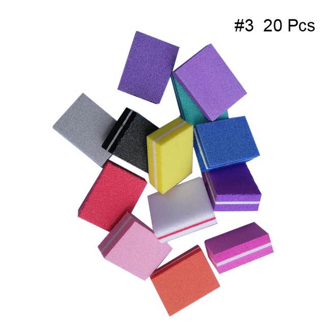 Mini Nail Buffers Files Block Pink White Mixed Colors Grinding Polishing Sanding Sponge Nail Art Design Tools Random Color
