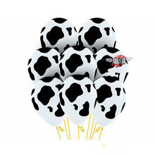 10pcs/lot round Dairy cow balloons cow thick balloon for children party birthday supply animal balloons 12 inch animals pet toy