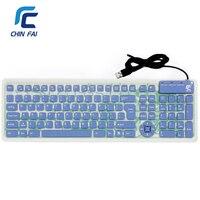 Rosyjski/Angielski 107 Klawisze Cichy Elastyczne Silikonowe Składana Klawiatura Wodoodporna USB Slim Portable Keyboard dla Tablet PC Telefon