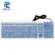 Russian/English 107 Keys Silent Silicone Flexible Foldable Keyboard Waterproof USB Slim Portable Keyboard for Tablet PC Phone