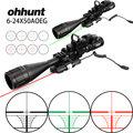 Ohhunt 6-24x50 AOEG охотничий дальномер прицел с голографическим 4 прицел красный зеленый лазерный комбо прицел