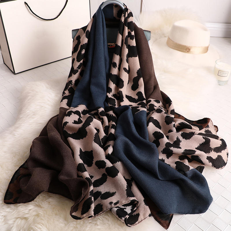 Luxury Brand 2019 Srping Women Cotton Long Scarf Leopard Print Thin Hijab Soft Summer Lady's Pashmina New Viscose Autumn Shawl