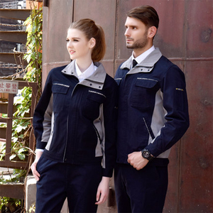 Image 1 - גברים נשים לעבוד בגדי סט ארוך שרוול מעיל ומכנסיים עבודת סרבל עבודה מדים עבור מפעל מכונת ריתוך תיקון