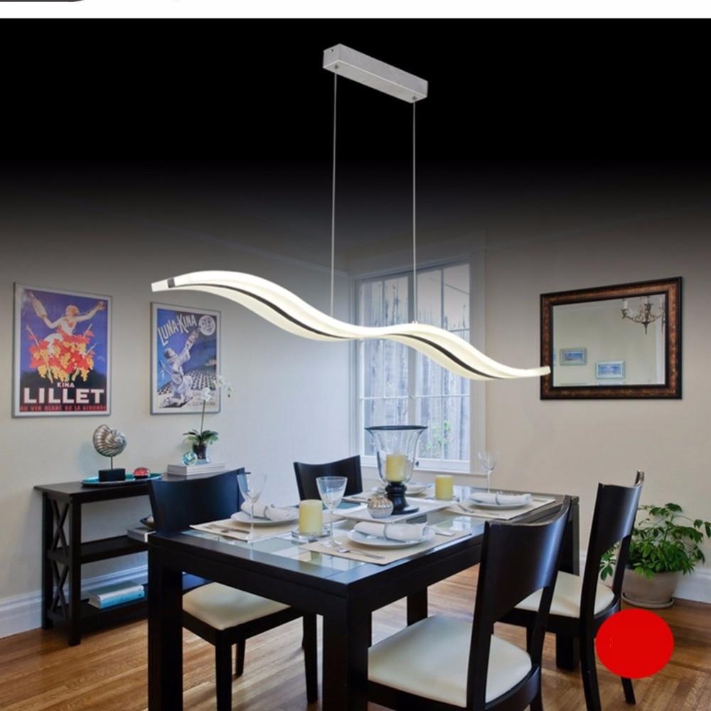 Moderne LED Anhänger Lichter Acryl Welle Form Kreative Esszimmer ...