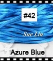 2.5mm 100yds/spool Azure Blue (#42) Rattail Satin Cord Chinese Beading Polyester (similar but not nylon) Cord NCP5