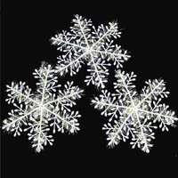 Christmas Ornament 30pcslot White Plastic Christmas Snowflake Christmas Tree Window Christmas Decorations For Home