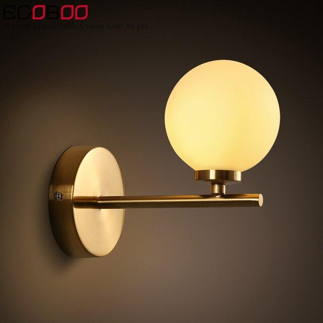 Modern minimalist wall lights creative fashion studio living room bedroom bedside hallway stairs glass iron wall lamp
