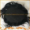 Парик мужчин полный шнурок цвет 1 # jet black базовый размер 8*10 дюймов мужские парики волос системы складе реми волос бесплатная доставка