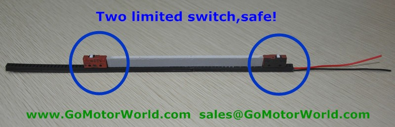 12V linear actuator with limited switch