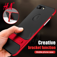 H&A 360 Protective Kickstand PC+TPU Shock Proof Holder Case For iPhone 6 6s 7 Plus Cover Phone Case For iPhone 7 7 plus Cover