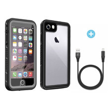 Waterproof Case for iPhone 7 8 IP68 Underwater Full Body Clear Protective Cover with Military Tested