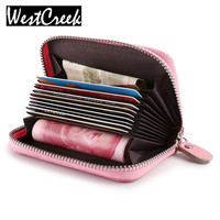 Fashion Womens And Men Genuine Leather Credit Card Holder Wallet Cardholder Porte Carte Credit Wholesale