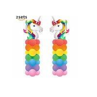 1 компл. высокого 78 см rainbow Unicorn алюминиевый шар день рождения праздник украшения поставки Baby Shower поставки
