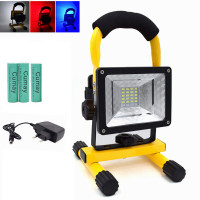 High Power 10W LED Floodlight Portable Light 18650 Rechargeable 24 LED Outdoor Night Light for Camping Fishing Lighting