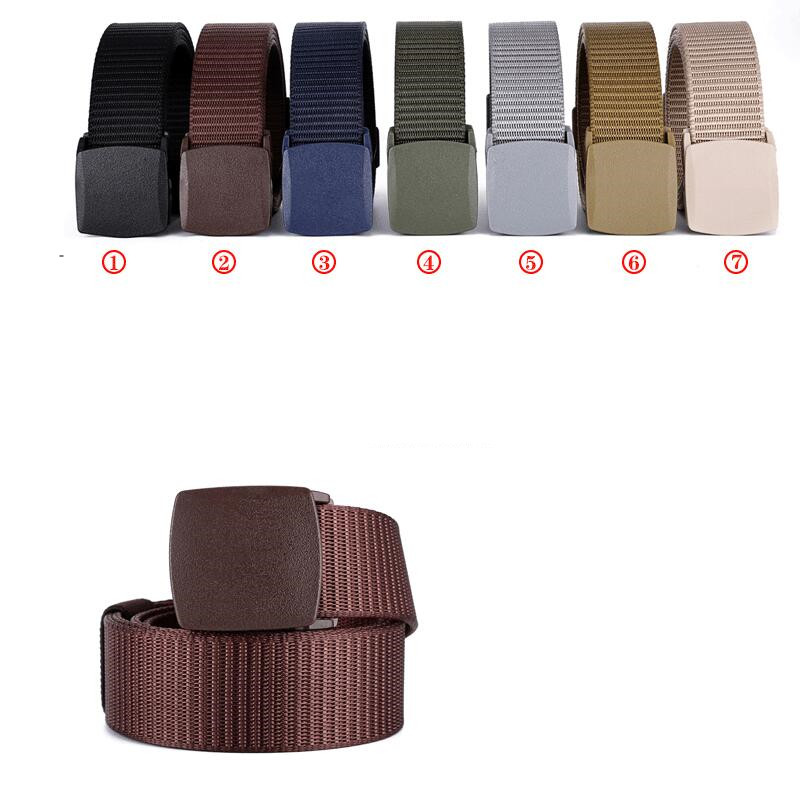 Canvas Hot Tactical Casual Belts Men's Fashion Wild Korean Thicken Long Cloth Belts Male Knitted Waistband Ceintures Polyester