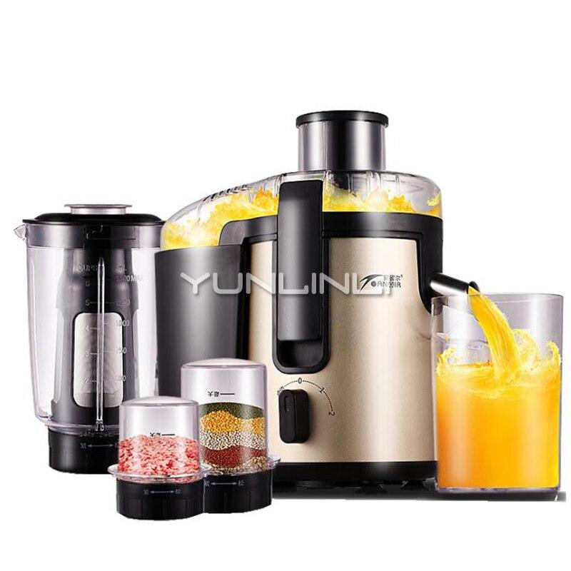 Household Juicer Stainless Steel Multi-function Juice Machine Crushed Meat Ice Soya Bean Milk 220V