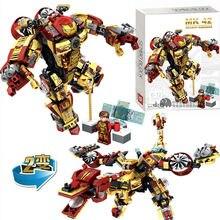 Купить с кэшбэком SD60021 Avengers Super Heroes Iron Man Armor Mark MK42 Captain America legaoes marvel building blocks baby toys children gift