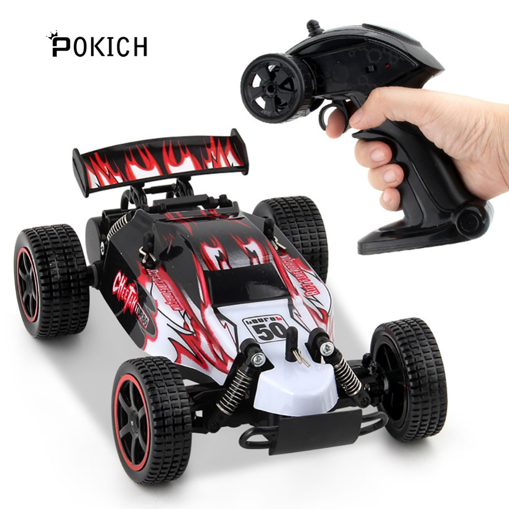 Pokich RC Car 2.4G 4CH Rock Crawlers Driving Car Drive Bigfoot Car Remote Control Car Model OffRoad Vehicle Toy image