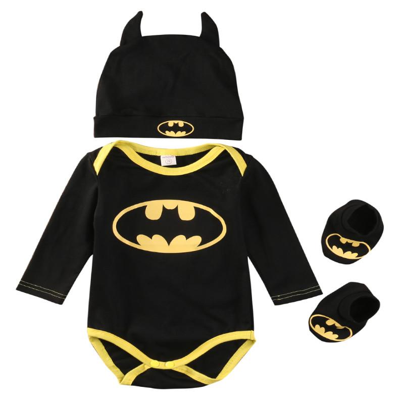 Bebe Recem Nascido Menino De Algodao Batman Batman Imprimir Moda