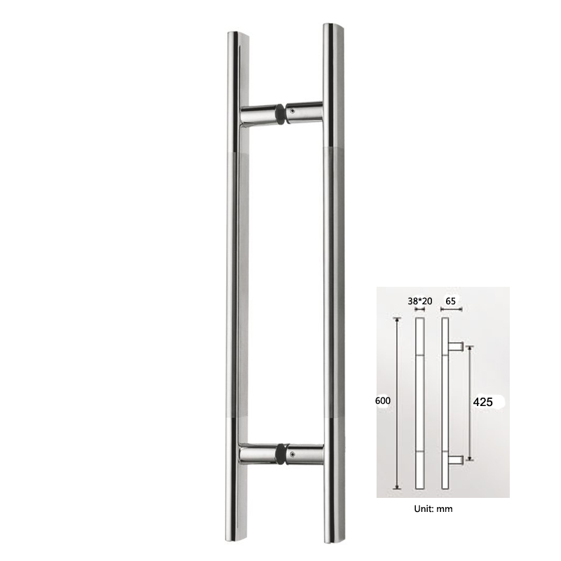600mm / 24 Inches Push Pull Door Handle Made Of Stainless Steel Pipe For  Entrance/Entry/Glass/Shop/Store PA 141 32*600mm In Door Handles From Home  ...