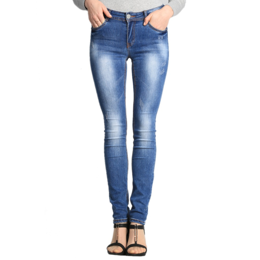 SheXiang Mrs 2016 Spring Women Elastic Jeans Pants Woman Slim Harem Jeans Girls Harem Pants Plus Size Jeans For Women W210