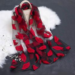 Женские летние легкий ветерок Sheer Обёрточная бумага органза марли шарф S9076
