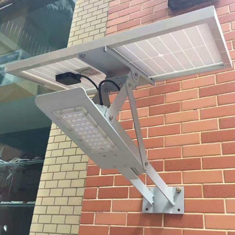 Outdoor Solar Lamp 24W Led Street Light With Solar Panel And Lithium Battery Together For Garden Wall Street Path Lighting