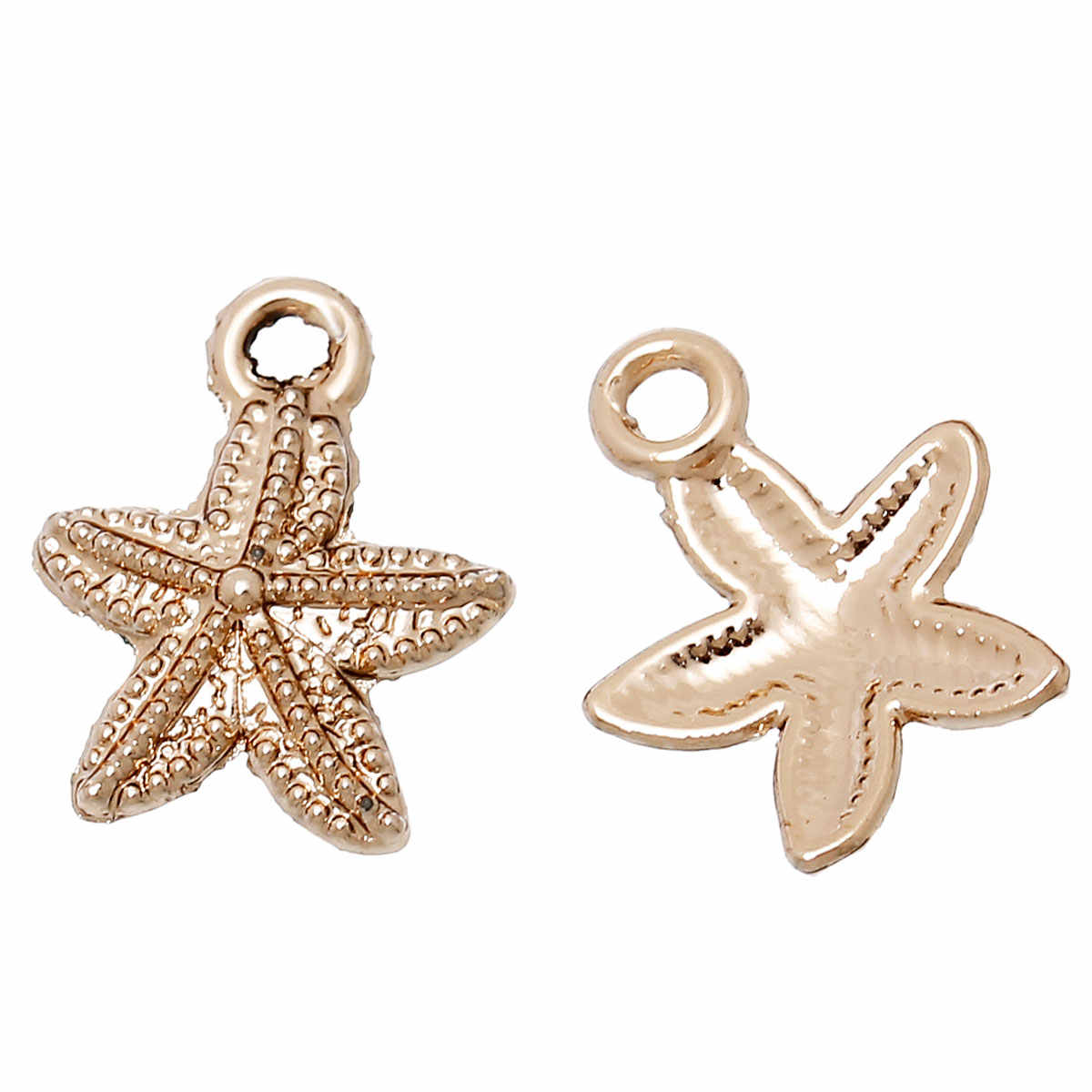 DoreenBeads New Fashion Golden Color Zinc alloy Starfish Charm Pendants DIY Earrings Necklace Jewelry Gift 15mm x 12mm, 2 Pieces