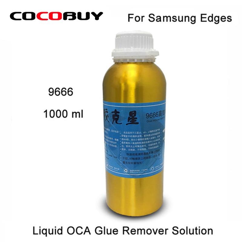 Livraison Gratuite 1 Bouteille 1000 ml 9666 Écran OCA Colle Remover Liquide Solution pour Sasmsung S8 Plus S8 S7 Bord s6 Bord Plus S6 Bord