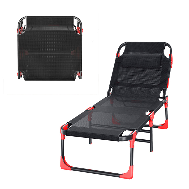 Folding Office Nap Bed  Adjustable Nap Lounge Chair Recliner Beach Chair Fishing Chair Sun Lounger 190*67*30cm