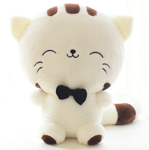 20CM Cute Kawaii Cat with Bow Plush Dolls Toys Gift Stuffed Soft Doll Cushion Sofa Pillow Gifts Xmas Gift Party Decor(China)
