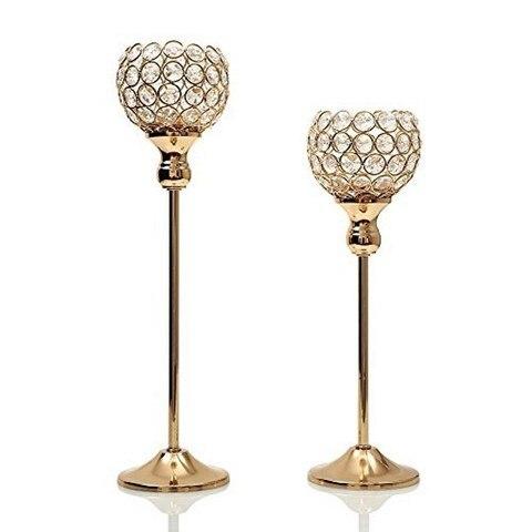 Castiçais de Cristal Castiçais de Metal Decoração do Dia das Bruxas Tealight Candelabros Suporte Mesa Casamento Centerpieces Natal