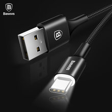 Baseus USB Type C Cable For Samsung Galaxy S9 S8 Note 8 Plus Fast Charging Cable For Xiaomi Mi 5 Oneplus 6 USB Type-C Cable(China)