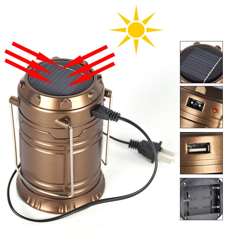 Ultra-Bright-Portable-LED-Camping-Lantern-Solar-Flashlights-1-Year-Warranty-Outdoor-Camping-Equipment-Copper-Collapsible