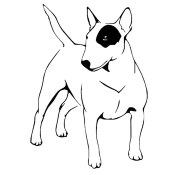 11.7*16.5CM English Bull Terrier Dog Vinyl Decal Endearing Car Stickers Car Styling Truck Decoration Black/Silver S1-1051 image