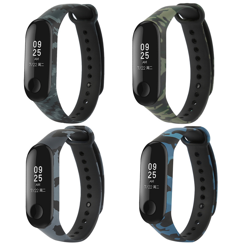 Camouflage Watch Band For Xiaomi Mi Band 3 Bracelet Replace Silicone Wrist Band  For Mi Band 3 Wrist Strap Smart Accessories