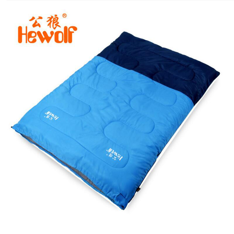 Hewolf Camping Sleeping Bags For Outdoor Recreation Three Seasons Spring Summer Travel Adult Winter Hiking Double Sleeping Bag