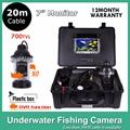"Fish Finder 7"" LCD Digital Monitor With DVR Support 16GB Card 650TVL Underwater Camera 18 LED Lights 20M Cable Rotate 360 Degree"