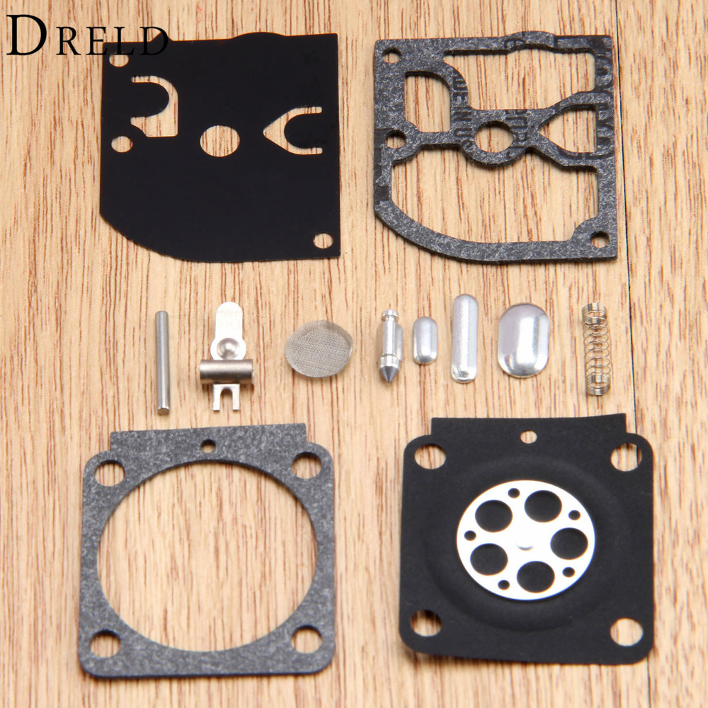 Carburetor Repair Kit Chainsaw Trimmer Parts RB-100 Gasket Diaphragm For Zama STIHL HS45 FS55 FS38 BG45 MM55 TILLER ZAMA C1Q kelkong carburetor rebuild kit for husqvarna chainsaw 235 236 gasket diaphragm repair for jonsered cs2234 cs 2238 zama carb kit