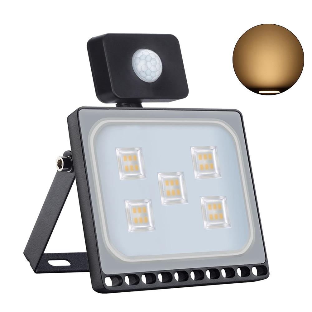 Ultrathin Led Street Lamp Waterproof Security Durable Motion Sensor Garden Yard Flood Light Outdoor Aluminum Spot Wall