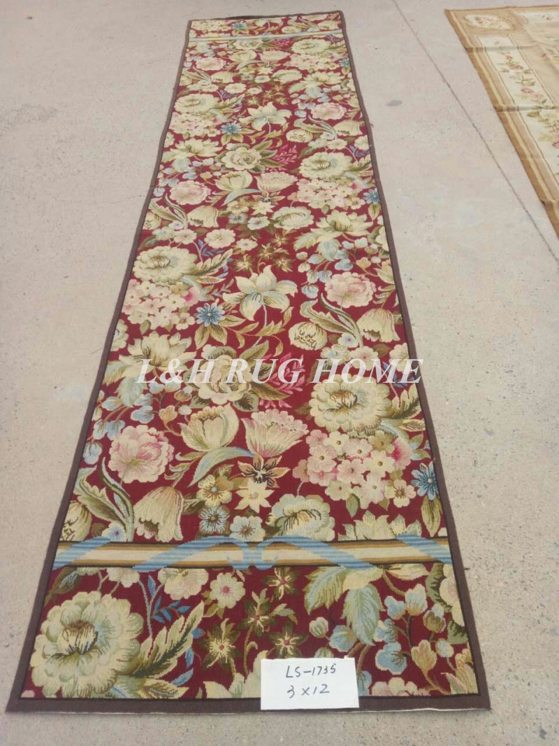 Us 439 0 Free Shipping 10k 3 X12 Handmade Needlepoint Rug Runners 100 New Zealand Wool Rugs Floral Design In Carpet From Home Garden On