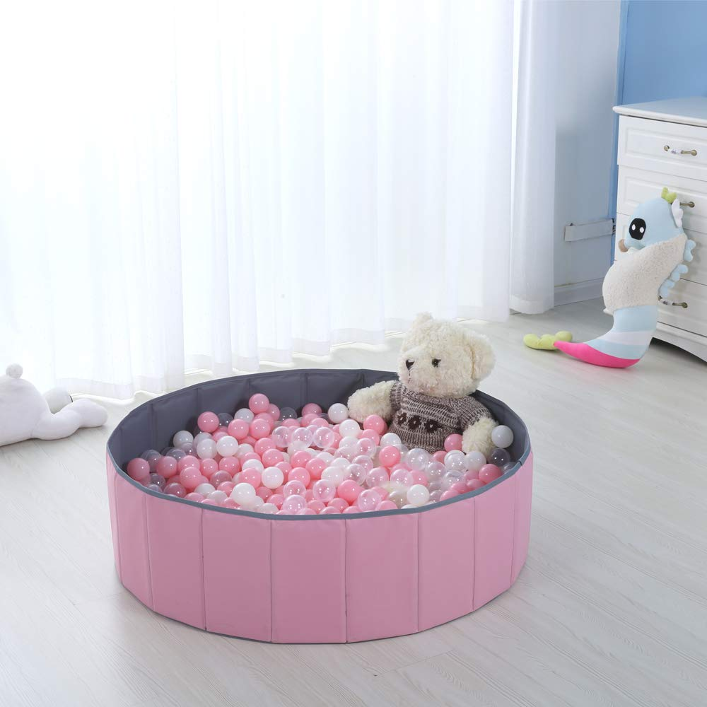 Pink Blue Waterproof Kids Ball Pit Folding Portable In Toy Balls Pool Storage Ocean Playpen