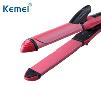 2 In 1 Ceramic Hair Curler Styling Tool Wave Hair Straightener Curling Iron Lively Kinky Curls