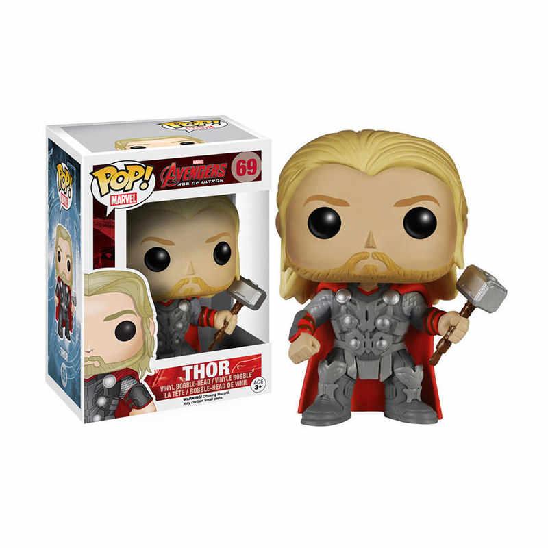 Funko pop Marvel Мстители: эндигра танос Тор Человек-паук Халк Стэн ли Железный ПВХ фигурка игрушки для детей Рождественский подарок