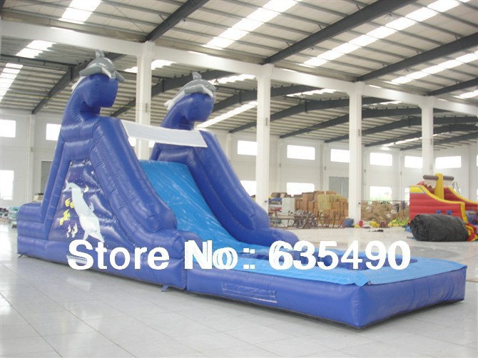 PVC 7x3x3.5m tarpaulin inflatable bouncers with slide for kids and baby