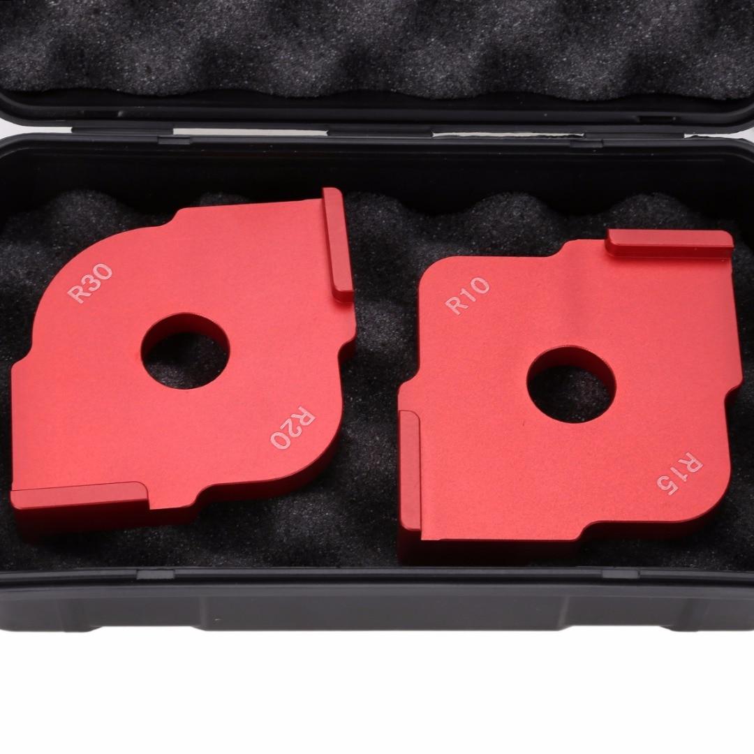 1 Satz Radius Quick Jig Router Tabelle Bit Ecke Jig Vorlagen mit Box ...