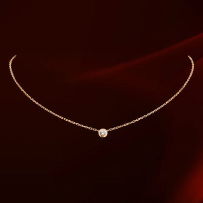 2015 New Sale Real Brand TracyKwok Necklace Genuine austrian crystal Gold Color Fashion Pendant Necklace #RG860552Rose