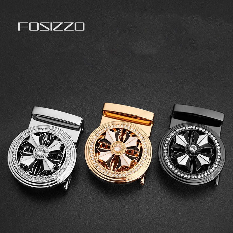 FOSIZZO High Quality Automatic Buckle Zinc Alloy Buckle Width 3.5CM SL03