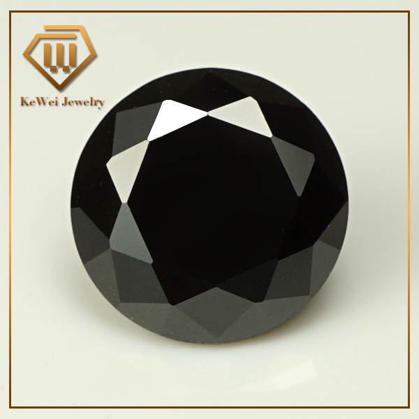 AAA Black Synthetic Gems Factory Sell 1.0mm~3.0mm CZ Stone 3mm Loose CZ Round Cubic Zirconia Stone Black