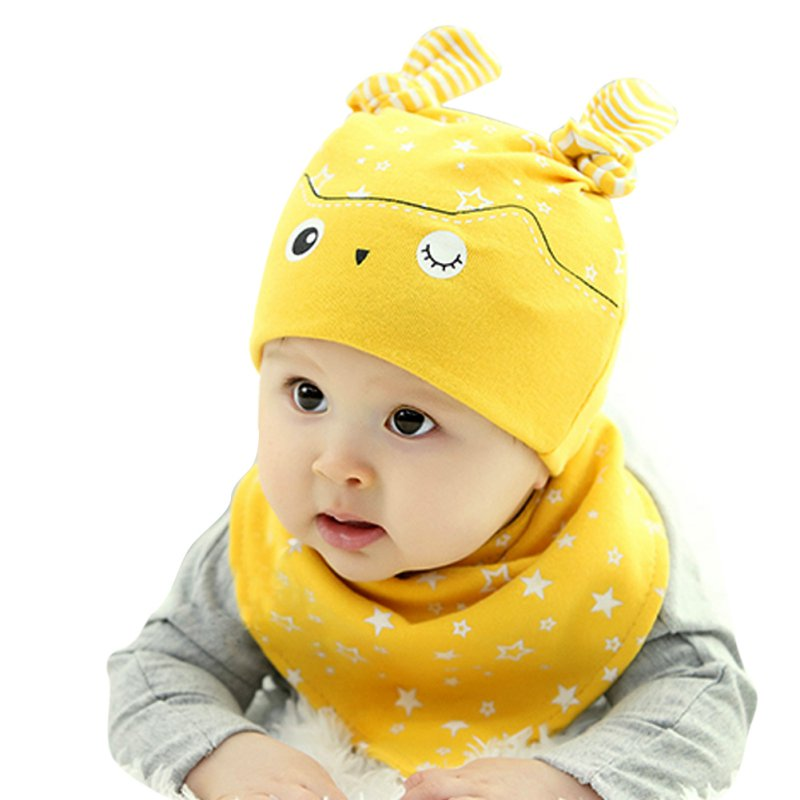 845615fb4 Baby Hats Baby Hats Newborn Toddler Child Baby Boys Girls Sleep Hat Cap+Saliva  Towel Triangle Head Scarf Set-in Hats & Caps from Mother & Kids on ...